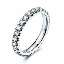 Round 0.9ct Genuine Moissanite 18K White Gold Engagement Ladys Approx 1.6g Ring