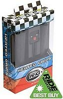 R&G Racing Heated Handlebar Grips for Motorbikes HG000122C. 22mm 7/8inch UK NEW