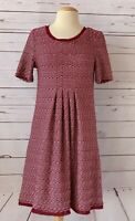 MAEVE Anthropologie Size S Knit Short Sleeve Dress Red