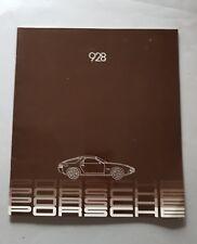 Porsche 928 1982 depliant inglese originale brochure