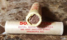 Canada 1963 Original Bank Wrapped OBW Roll of Pennies!!