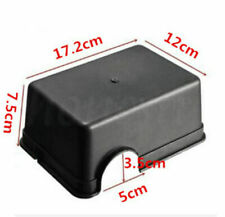PC Medium/large Reptiles Plastic Hide Box Black for Lizards Snakes Rodents