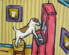 Jack Russell terrier piano picture Dog art Print abstract 11x14 pop Art Jchmetz