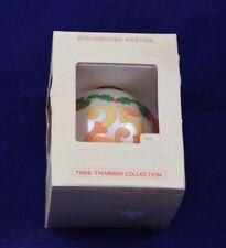 Hallmark Keepsake Glass Ornament 25th Christmas Together 1980 w Box & Price Tag