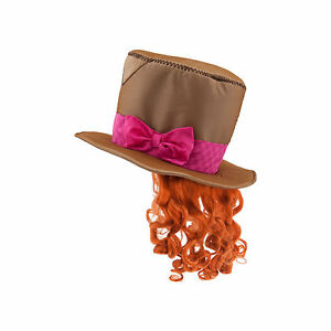 Mad Hatter Hat & Wig Costume Dress Up Alice in Wonderland Adults Kids One Size