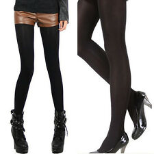 SexyღWomen's Velvet Thick Elastic Winter Warm Pantyhoses Footed Tights Stockings