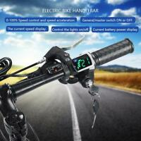 48V Scooter Electric Bike E-Bike Throttle Grips LCD Handlebar Speed Control SP