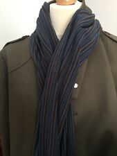 Classic brown and blue striped scarf