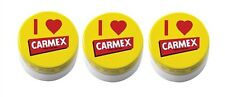 3 X Carmex Moisturizing Lip Balm Pot ***Soothes dry and chapped lips ***