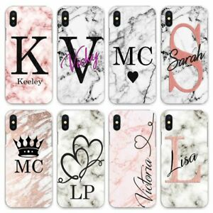 For iPhone 8/7/6/Plus/5s/XS/Max/XR/11 Pro Case Personalised initials staggering