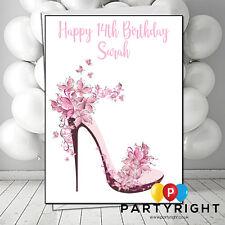 Personalised Woman Girl Teenager High Heels Birthday Card Any Relation (B11)