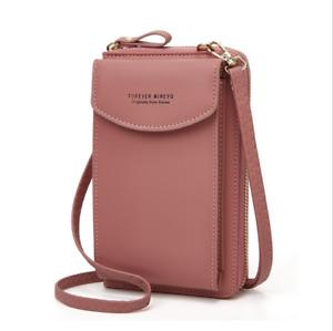 Frauen Crossbody Clutch Handtasche Kartenhalter Tasche Coin Purse Wallet DE