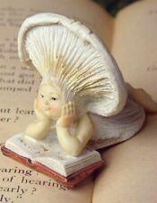 Victorian Trading Co 'Shroom Baby Mushroom Fairy Reading Figure