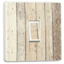 Rustic Shoreline Timber Cladding Wood Effect Light Switch Sticker [Single]