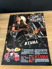1989 Vintage 8X11 Print Ad For Tama Granstar Drums Dave Holland Of Judas Priest