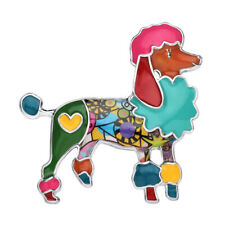 Enamel Alloy Poodle Dog Brooch Pin For Women Collar Scarf Pet Charm Jewelry Gift