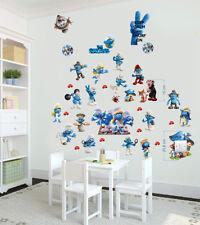 The Smurfs Wall Stickers Decal Art Decor Home bedroom Mural 3D Gargamel 70X35cm