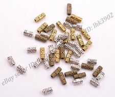 100Pcs Antique Silver Gold Bronze Tube Charm Spacer Beads 8MM 6MM
