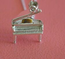 925 Sterling Silver Musical Piano Charm - Grand Piano Pendant ONLY
