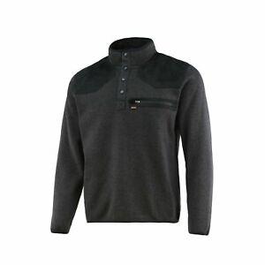 Nomad Mens Large Slaysman Pop Over Long Sleeve Shirt Heather Grey N1300029