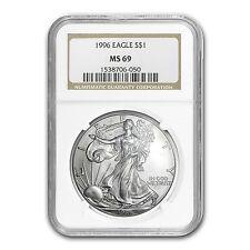 1996 Silver American Eagle Coin - MS-69 NGC - SKU #6907