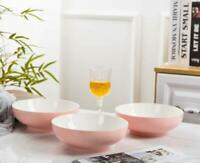 Salad Soup 4-Pack-40 Oz Large Stackable Porcelain Cereal Pasta Bowl-Sets,Pink
