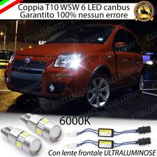 COPPIA LUCI DI POSIZIONE 6 LED FIAT PANDA MK2 + SPEGNI SPIA 100% NO AVARIA LUCI