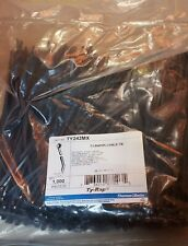 """TY242MX THOMAS & BETTS TY-RAP CABLE TIES 8.19"""" IN LENGHT BLACK 1000/pk"""