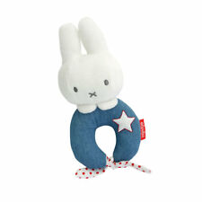 Excellent Used Condition Miffy Blue And Pink Little Star Loop Ring Rattles Toys For Baby Rattles