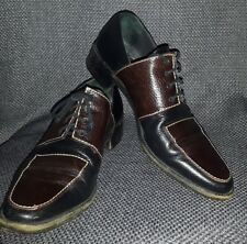 WALTER STEIGER two toned LEATHER dress shoes hand made in Italy brown/black US 8