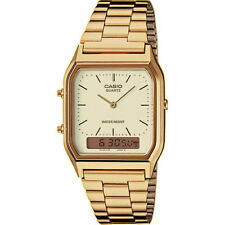 Casio Men's Ladies  AQ-230GA-9DMQYES Analogue Digital Watch Gold RRP£40 ****USED