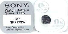 Sony 346 SR712SW V346 346 SR712SW Watch Battery