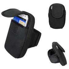 Double Pockets Mobile Arm Band Sport Bag Case for Cell Phone MP3 Key Bike GA