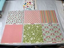 October Afternoon Cherry Hill 12 x 12 Shapes Tea Towel Apron Basket Dishes Jar