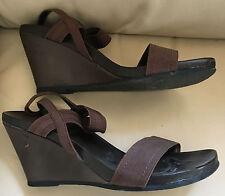 JANE KLAIN Schuhe Pumps Sandaletten Keil-Absatz braun Größe 39 Syntetik
