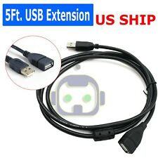 5FT USB 2.0 Male to Female Extension Data Charger Cable Cord Adapter M/F 5 Feet