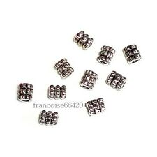 100 Perles intercalaire spacer Cylindre rond 6.5x5x5mm Apprêts créat bijoux A136