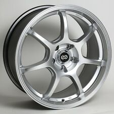 16x7 Enkei GT7 4x100 +38 Hyper Silver Rims Fits Accord Integra Civic Miata Fox
