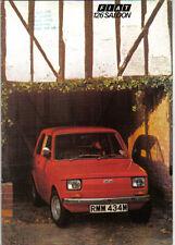 FIAT 126 Berlina 594cc 1973-75 ORIGINALE UK SALES BROCHURE