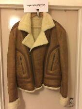 Men's Marlboro Classics Vintage Shearling Cow Skin Leather Jacket Size Large (L)