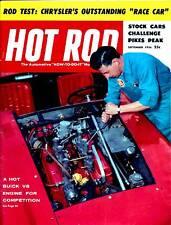 HOT ROD SEP 1956,BUICK V8 ENGINE,PIKES PEAK-STOCK CARS,SEPTEMBER,HOTROD MAGAZINE