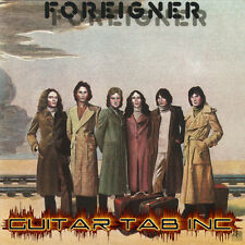 Foreigner Digital Guitar Tab SELF TITLED Lessons on Disc Mick Jones