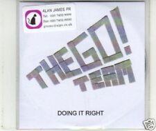 (J701) The Go! Team, Doing It Right - DJ CD