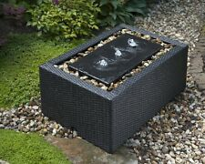 Ubbink Beckenumrandung für Gartenbrunnen DecoWall Wicker 5, NEUWARE