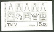 FAROE ISLANDS HA2 (Scott 94a) Chess Booklet