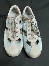 Merrell Relay Skip Blue Suede Gray Canvas Sneakers Size 9 EUC