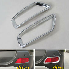 For Peugeot 3008 2013-2015 Auto Rear Tail Fog Light Lamp Cover Frame Trim ABS x2