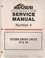 1996 MERCRUISER #4 STERN DRIVE UNITS VI & VII SERVICE MANUAL 90-848656 (388)