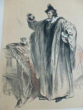 LITHOGRAPHIE FRAGONARD 1840 / L'EMPIRIQUE  XVIIe