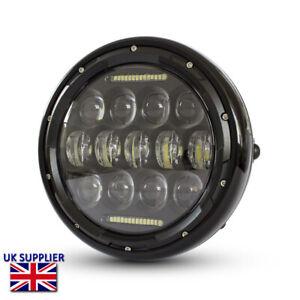 "Motorbike LED Headlight 7.7"" Projector Cafe Racer Retro Custom Bike BLEMISHED"